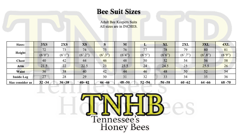 Tennessee's Honey Bees LLC 3-Layer Ventilated Beekeeper's Suit